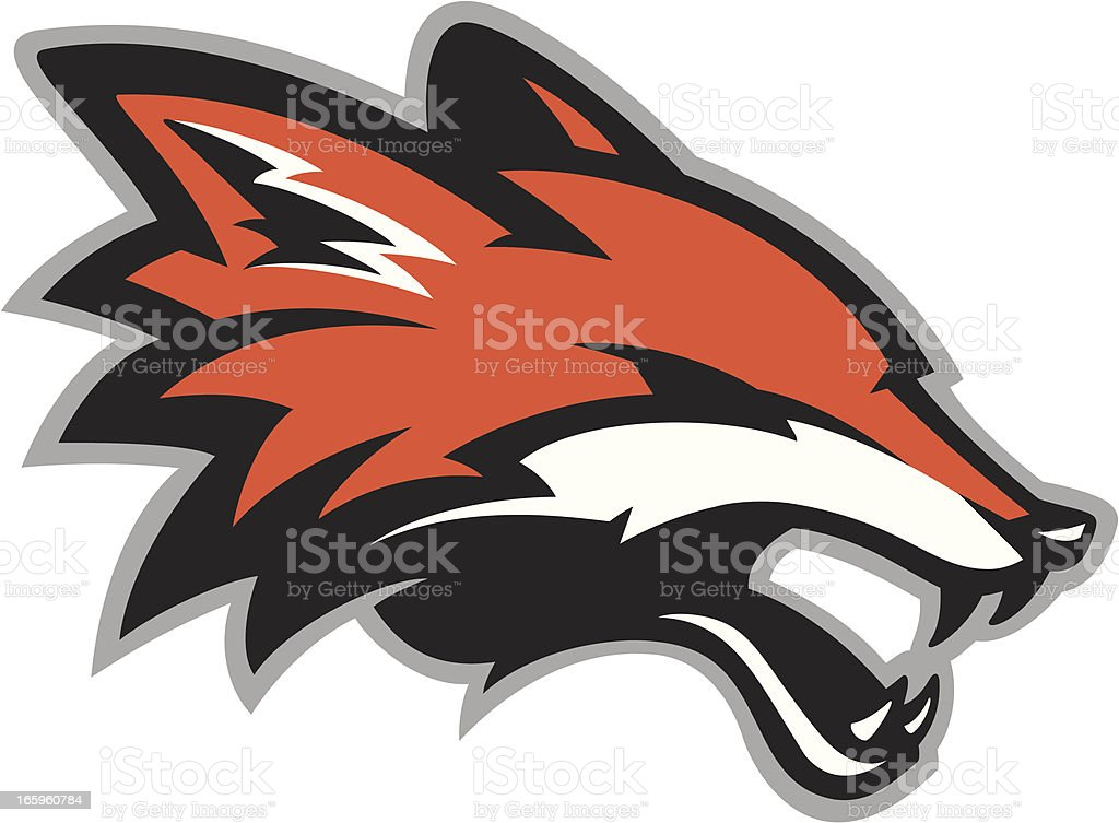 Fox head mascot royalty-free stock vector art