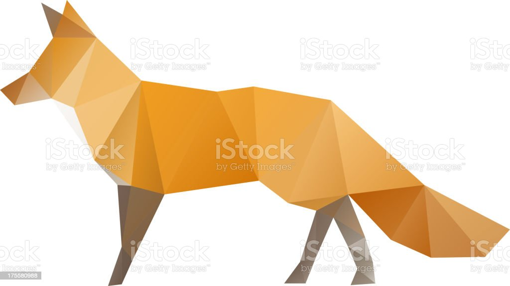 Fox isolated on a white backgrounds royalty-free stock vector art