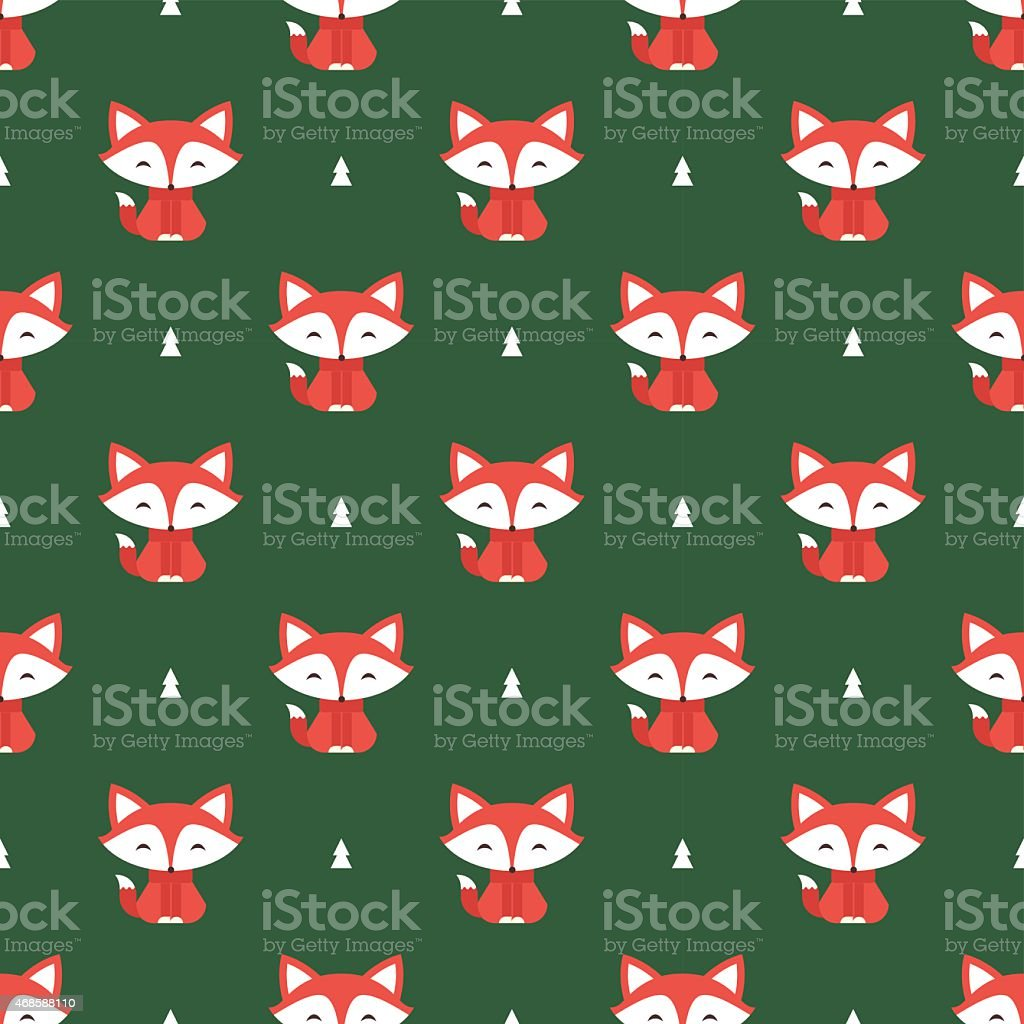 fox pattern vector art illustration