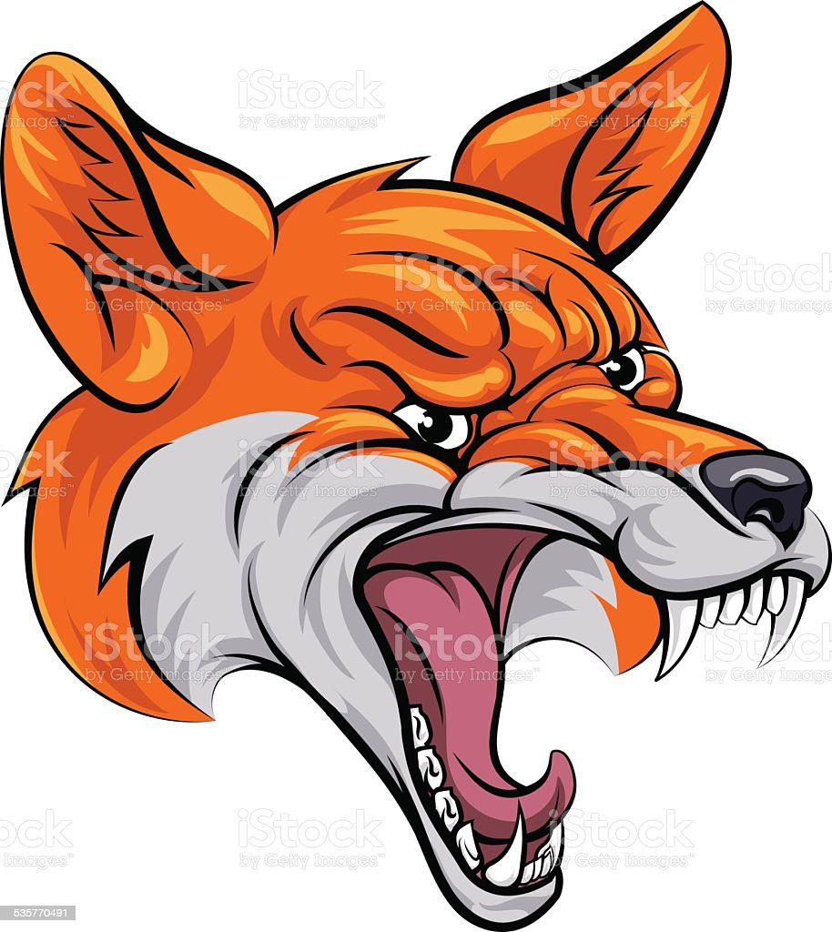 Fox sports mascot vector art illustration