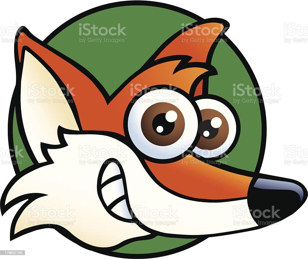 Fox's Head royalty-free stock vector art