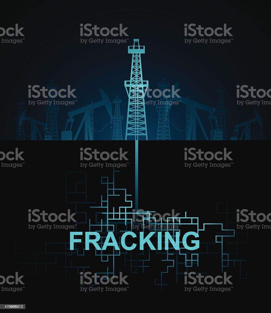 Fracking vector art illustration