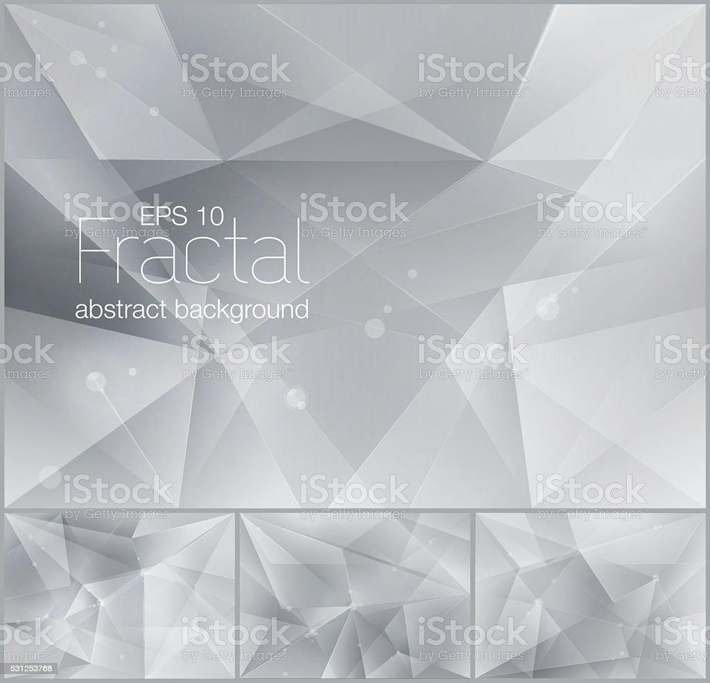 fractal abstract background vector art illustration