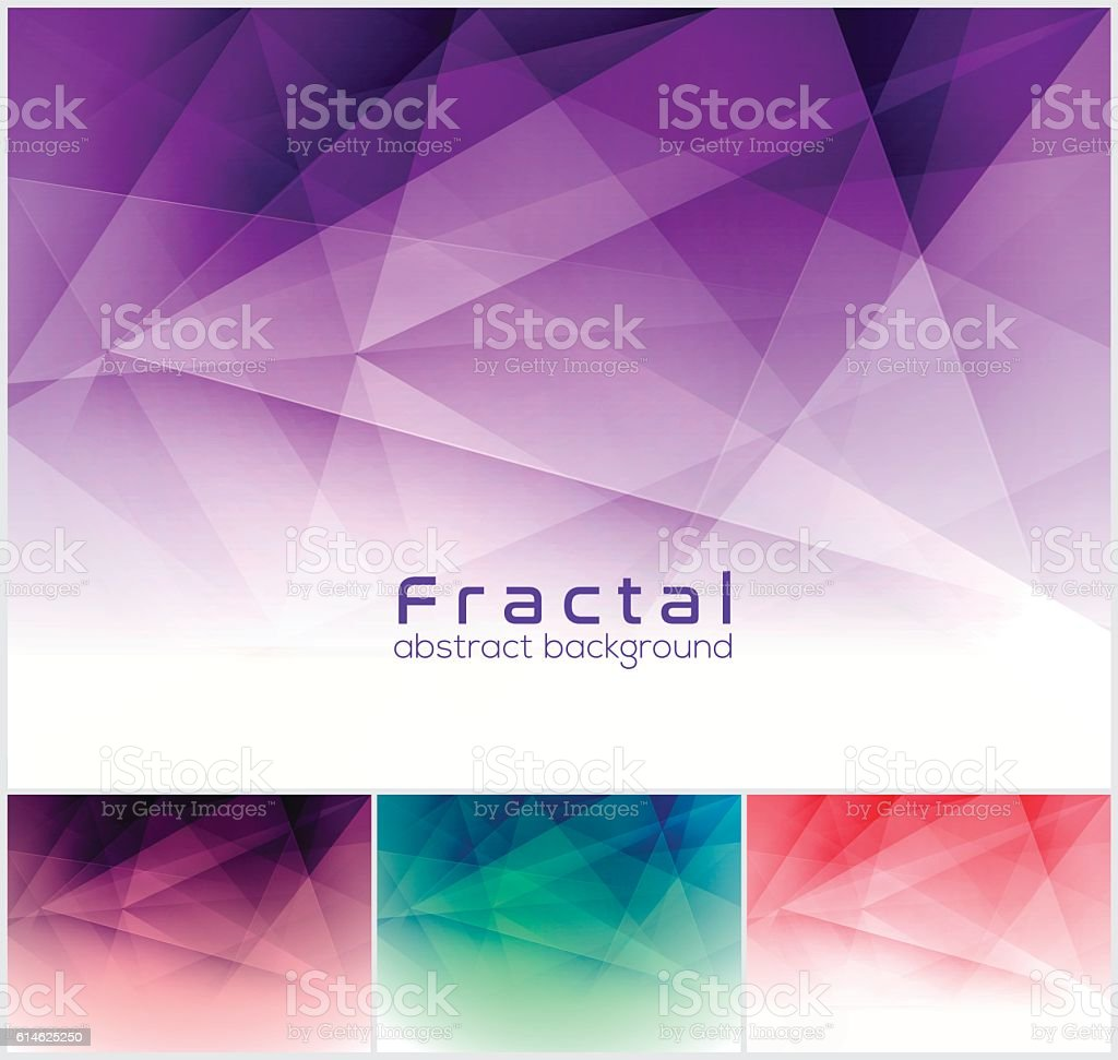 Fractal abstract background. vector art illustration