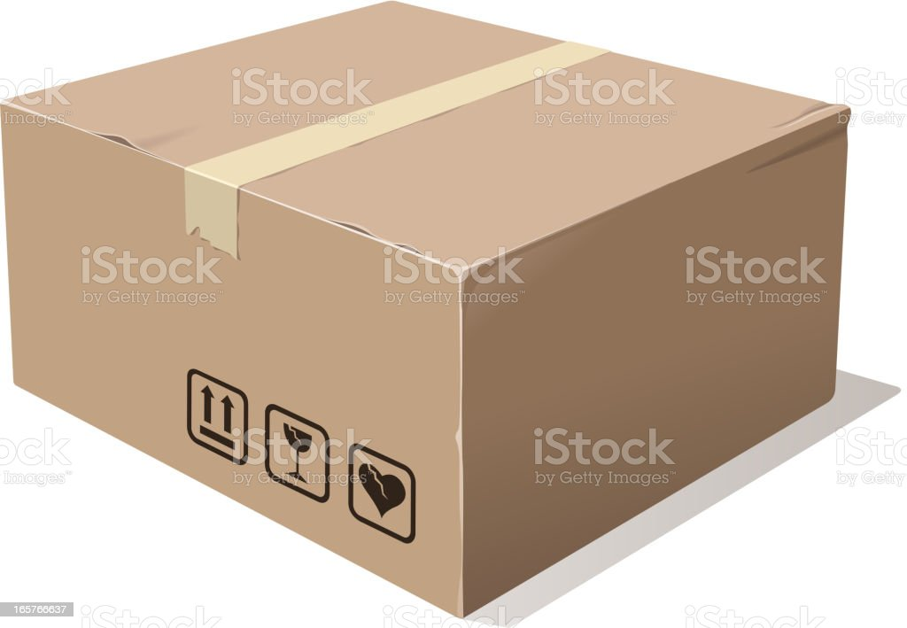 fragile cardboard box royalty-free stock vector art