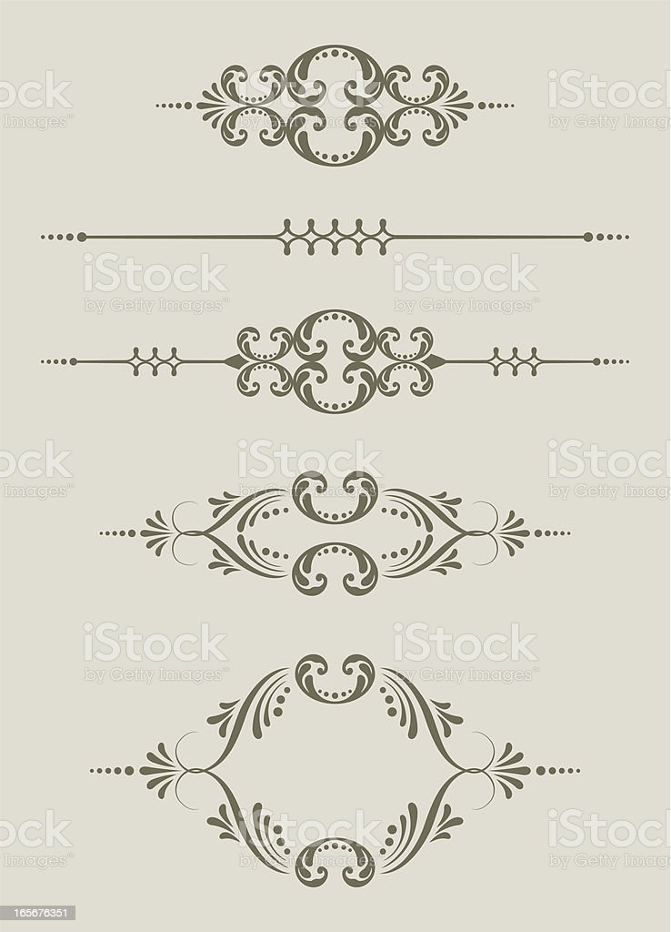 Frame and Decorative Dividers royalty-free stock vector art
