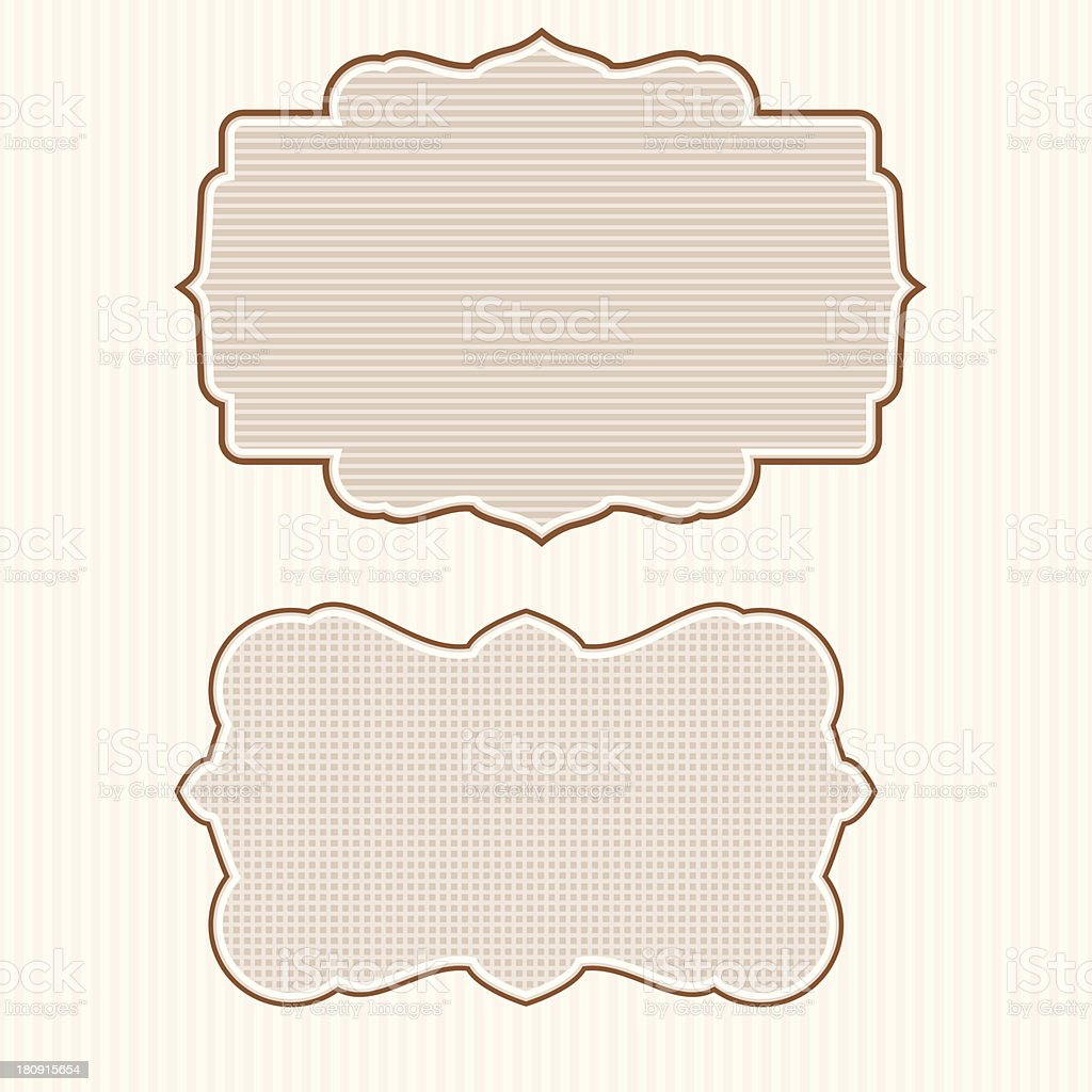 Frame Banner - VECTOR royalty-free stock vector art