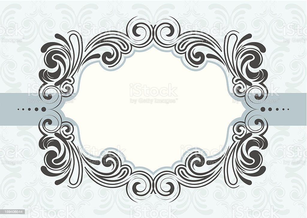 Frame design with fancy borders royalty-free stock vector art
