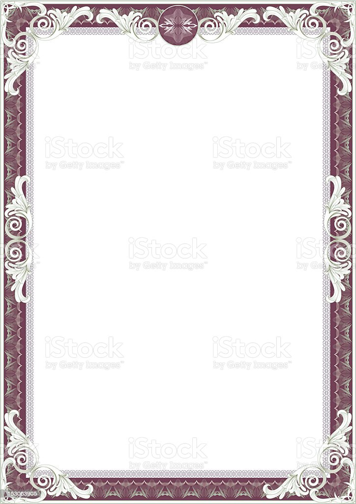Frame for diploma or certificate. royalty-free stock vector art