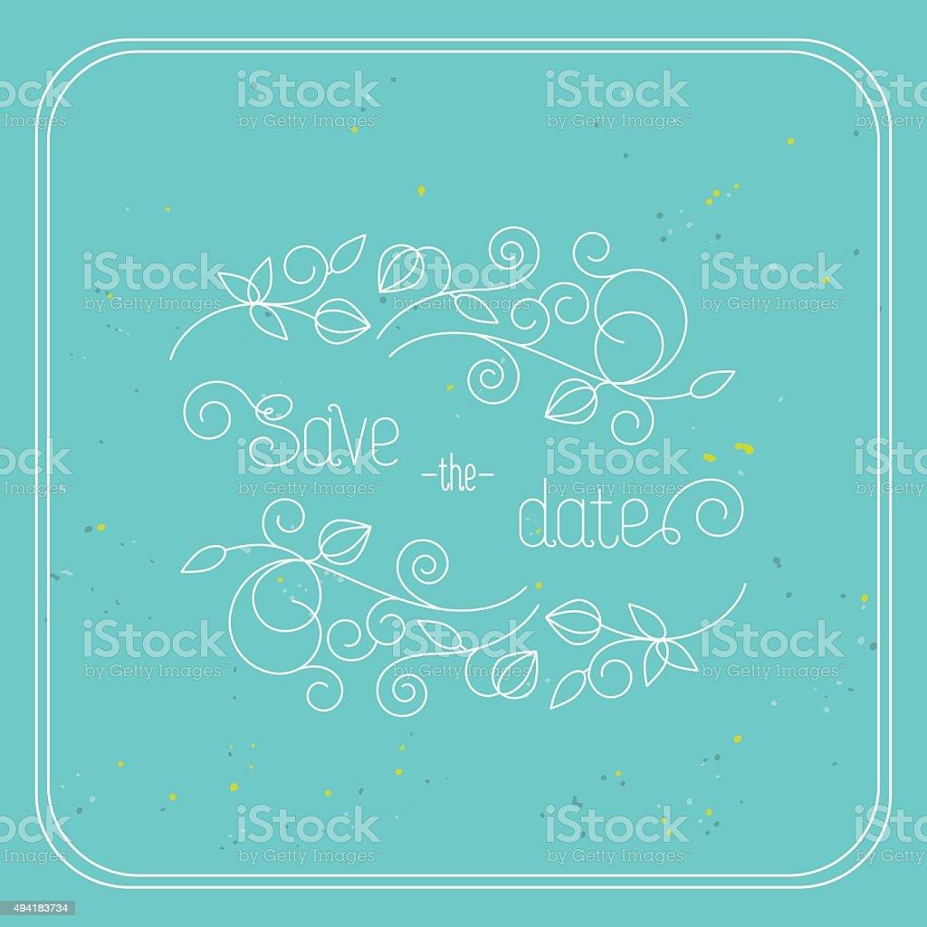 Frame for wedding invitations. vector art illustration