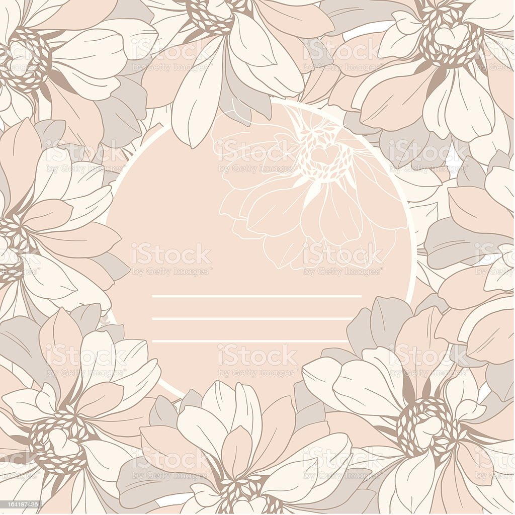 frame from abstract flowers in retro style royalty-free stock vector art