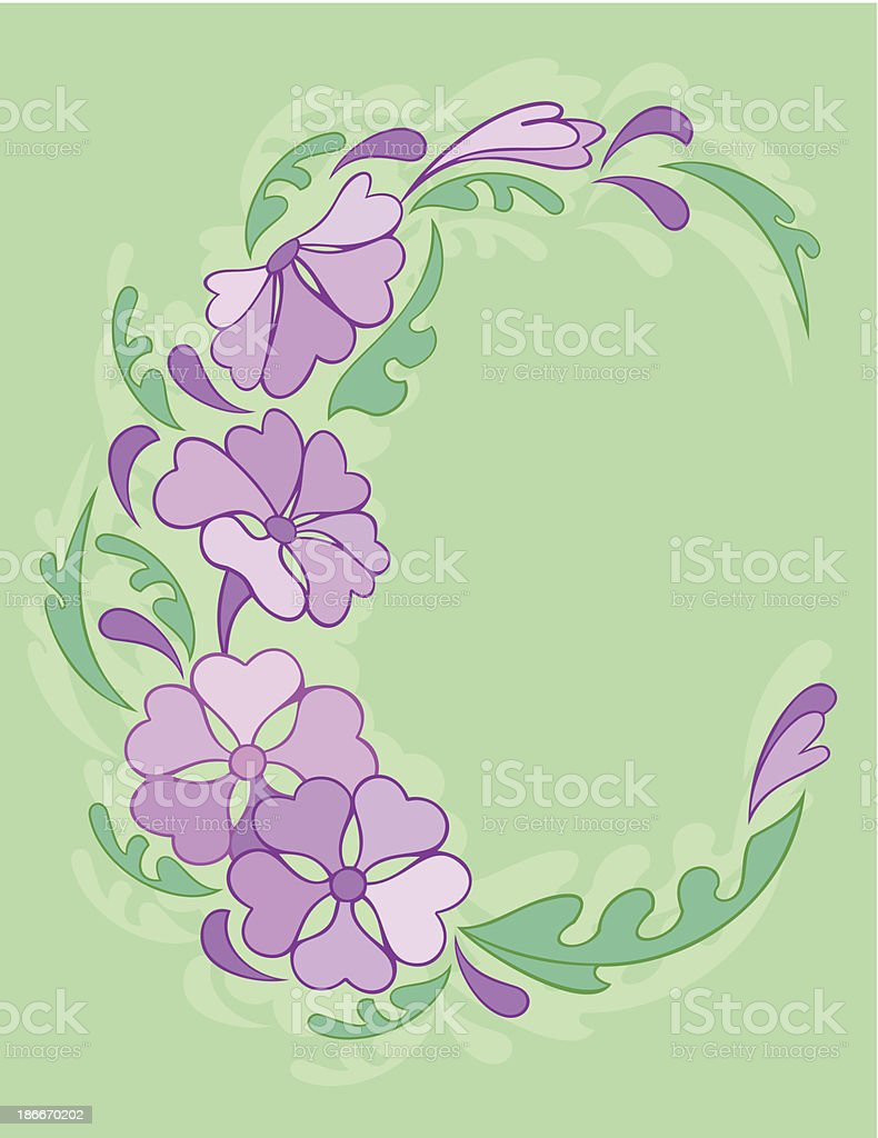 Frame from abstract flowers royalty-free stock vector art