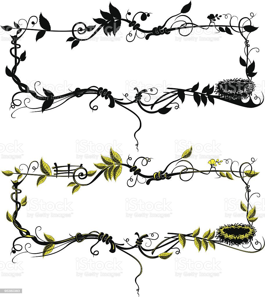 Frame from leaf royalty-free stock vector art