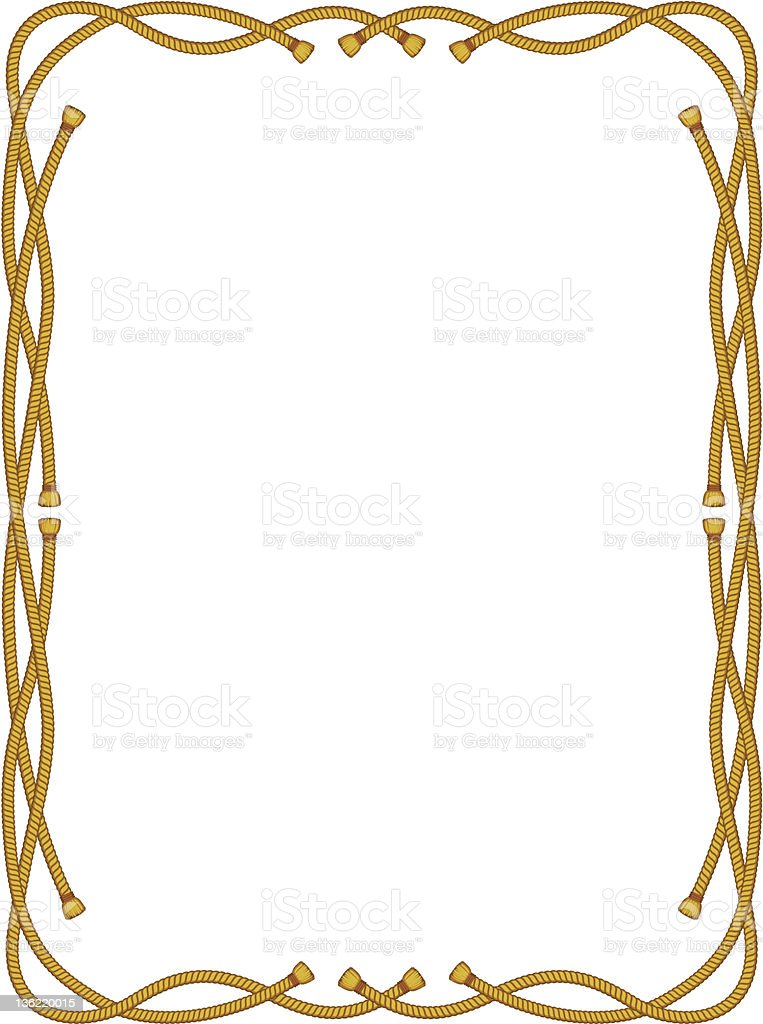 frame from rope isolated on white vector art illustration