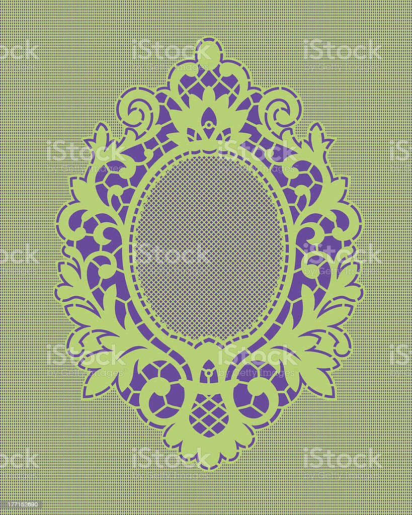 Frame Green lace. royalty-free stock vector art