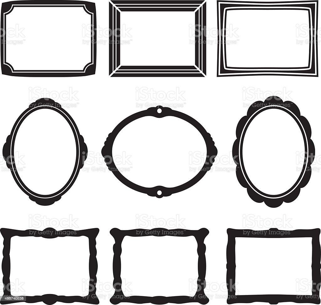 Frame Icons vector art illustration