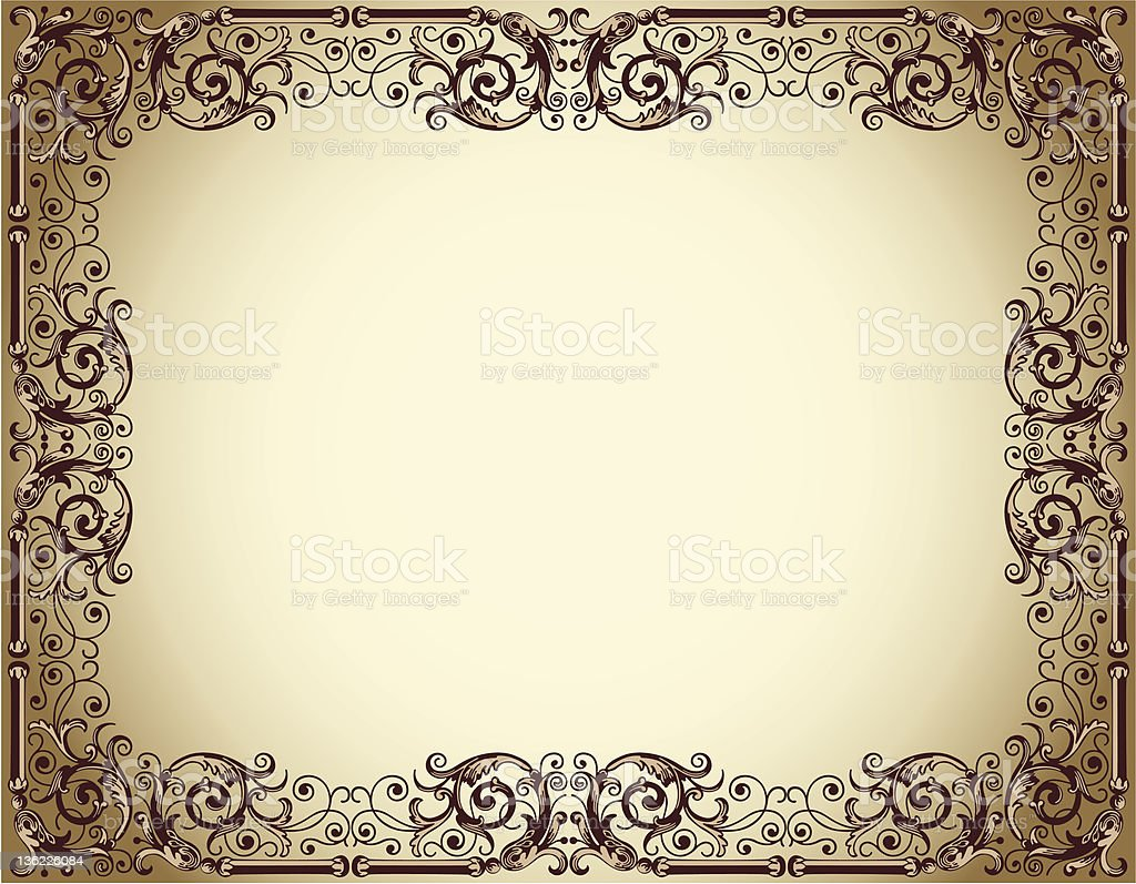 frame in ancient style royalty-free stock vector art