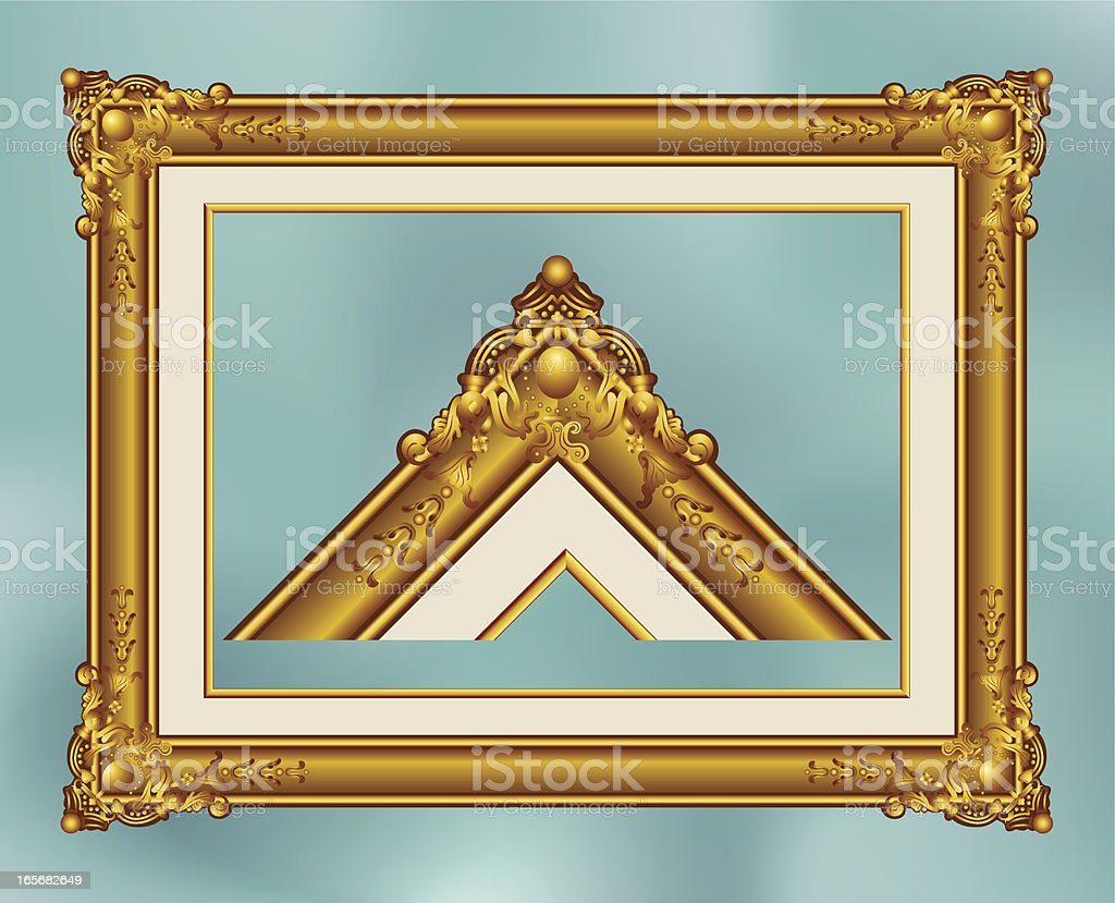 Frame In Gold royalty-free stock vector art