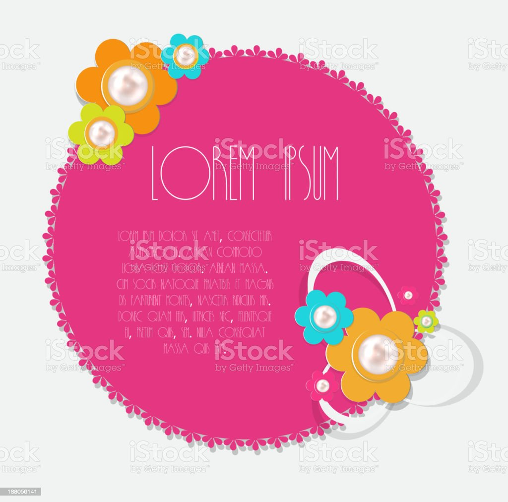 Frame in retro vintage background. Vector illustration. royalty-free stock vector art