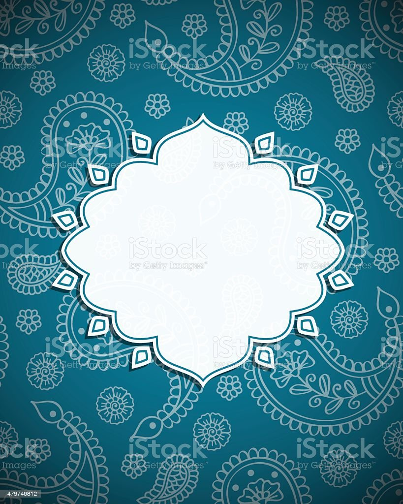 Frame in the Indian style vector art illustration