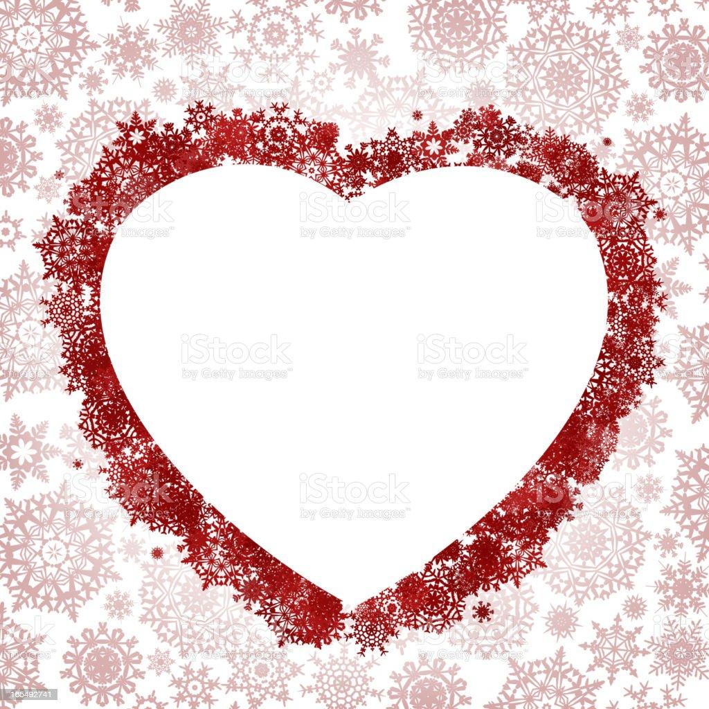Frame in the shape of heart. EPS 8 royalty-free stock vector art