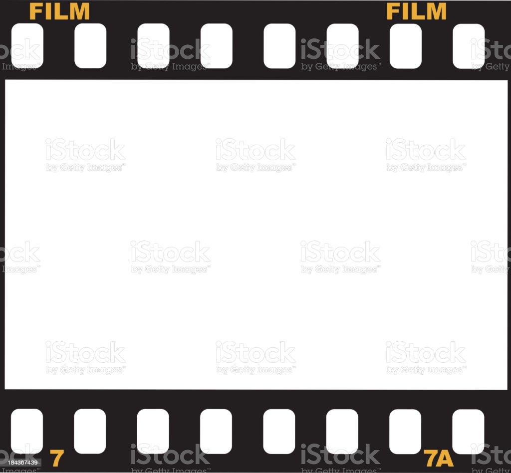 frame of film vector art illustration