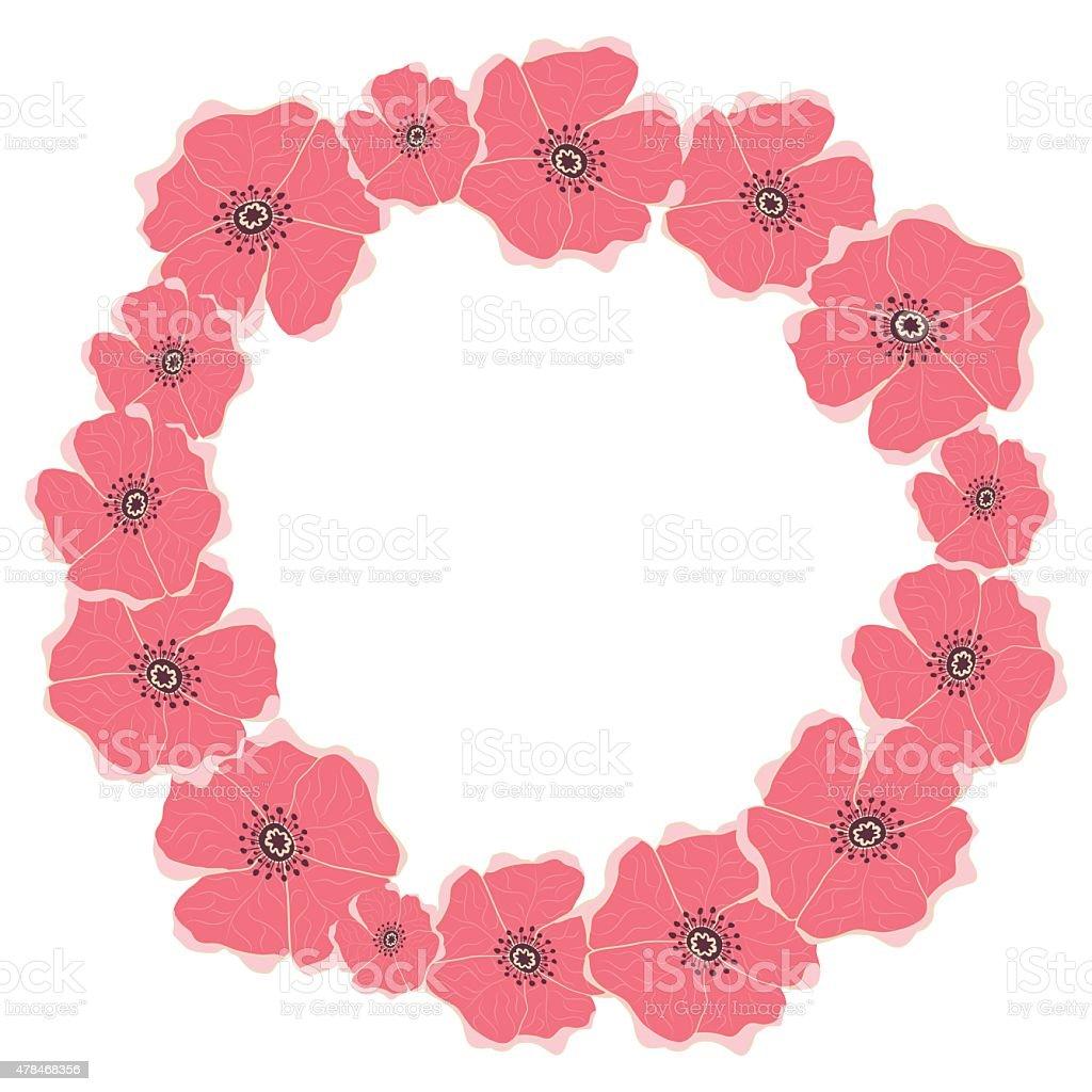 Frame of flowers made in vector vector art illustration