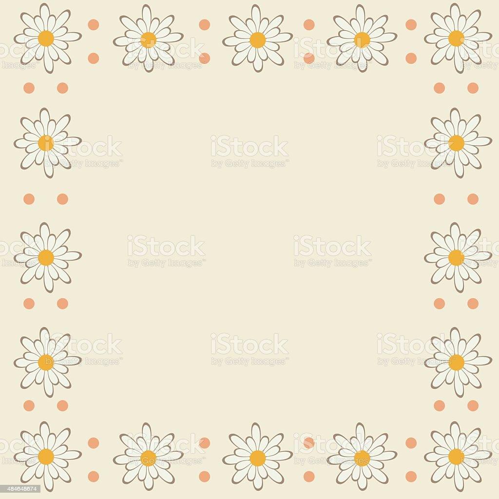 Frame of flowers royalty-free stock vector art