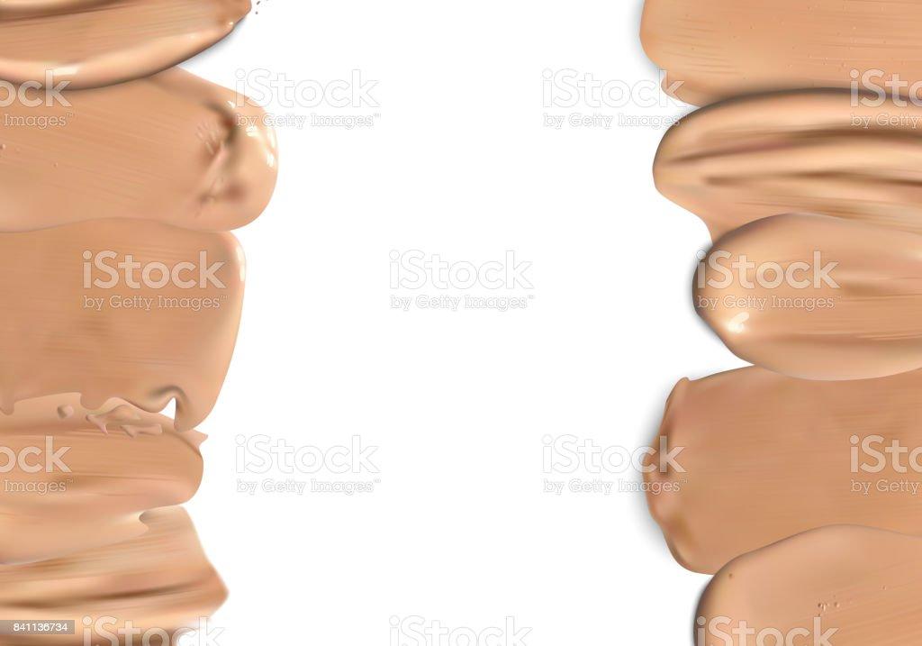 Frame of makeup liquid foundation vector art illustration