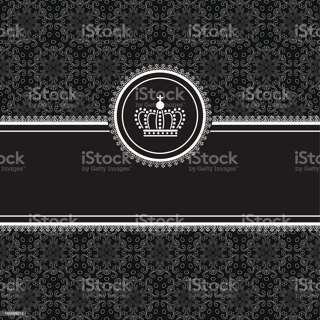 Frame on Damask Background royalty-free stock vector art