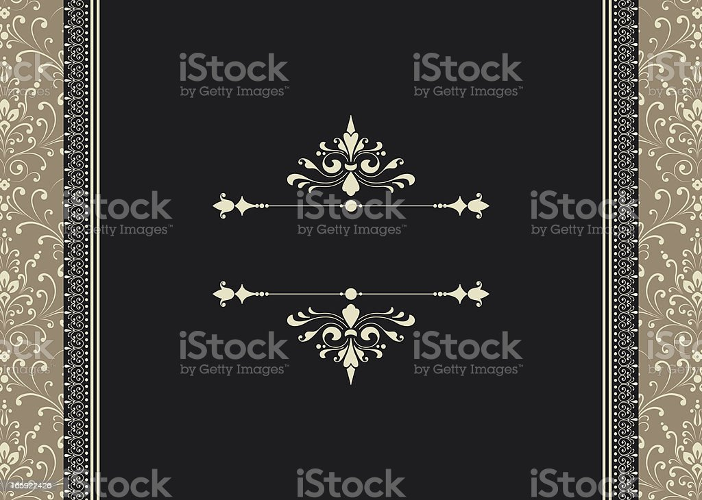 Frame on Seamless Background royalty-free stock vector art