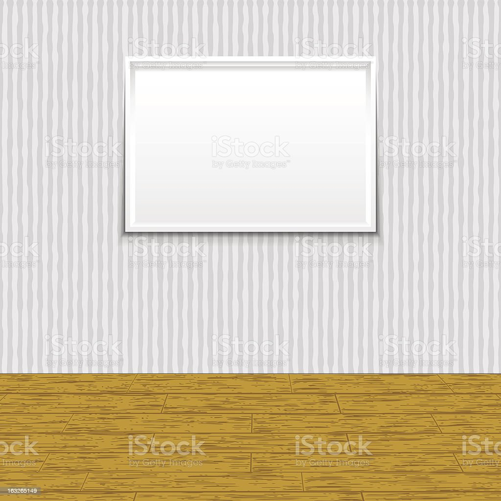 Frame on Wall royalty-free stock vector art