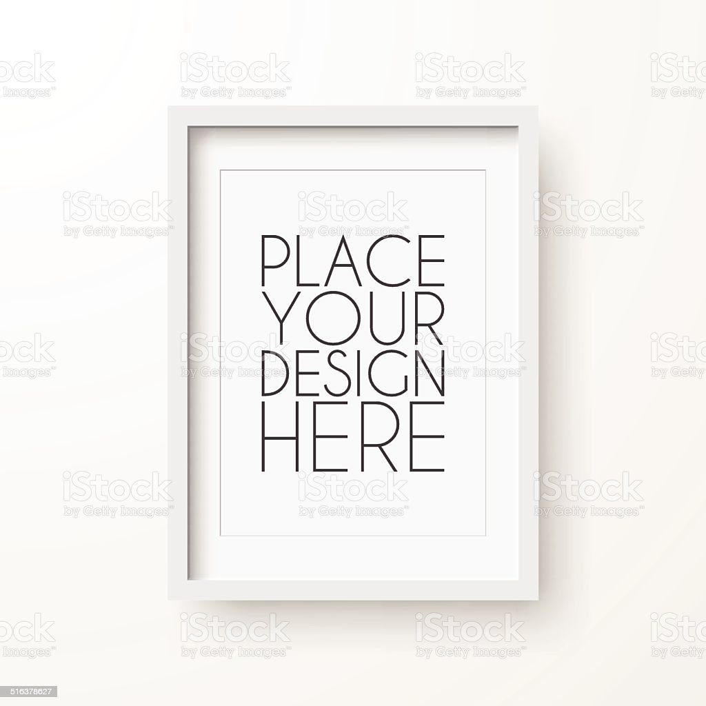 Frame on White Background vector art illustration