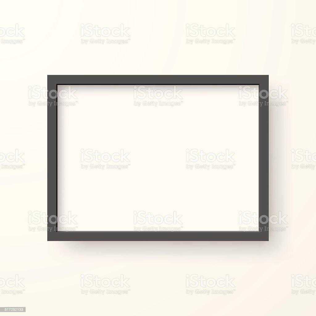 Frame on White Background vector art illustration
