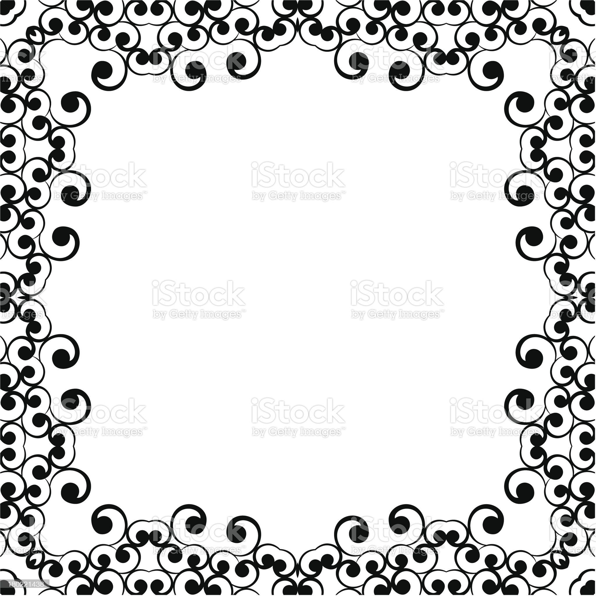 Frame ornament vintage floral design royalty-free stock vector art