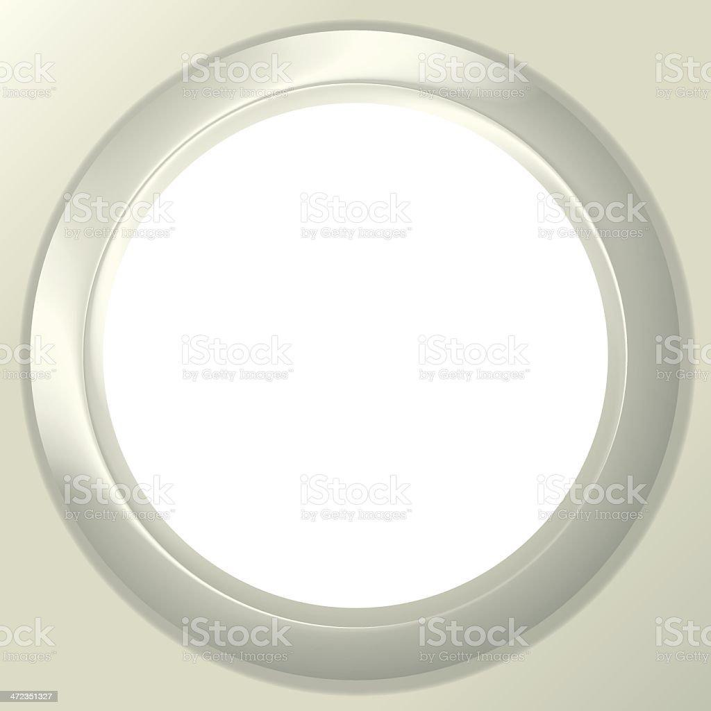 Frame porthole on white background royalty-free stock vector art