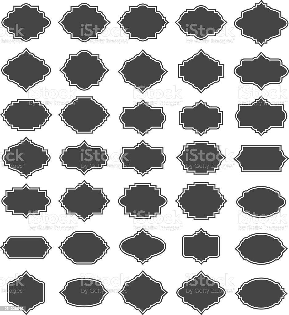 Frame set vector art illustration