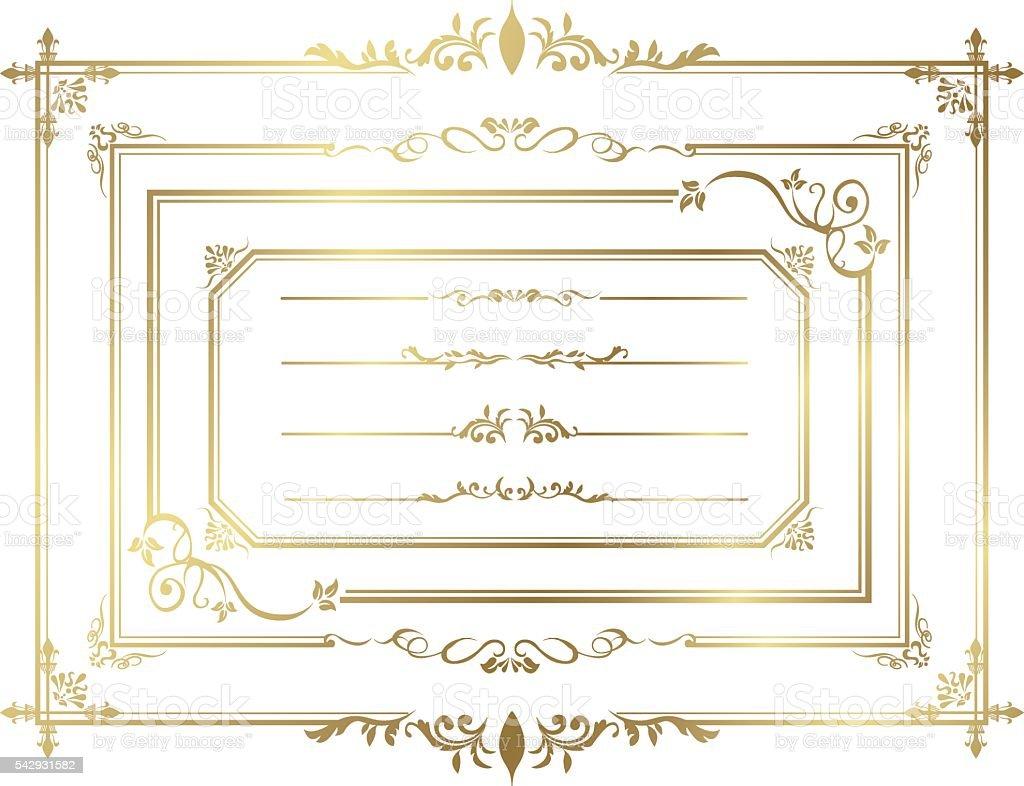 frame set Vector vector art illustration