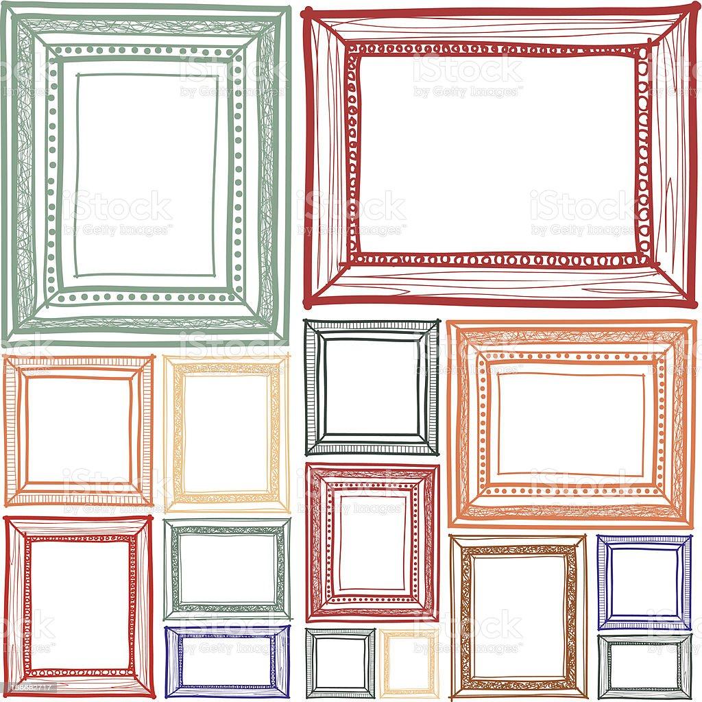 Frame sketchbook vector art illustration