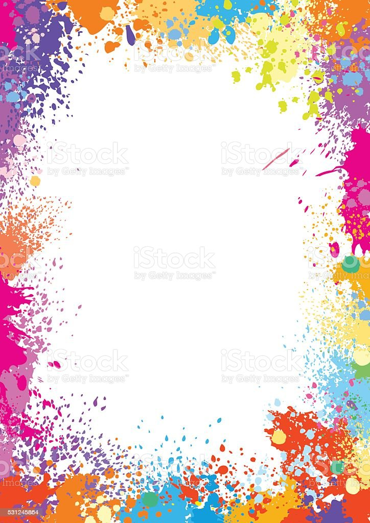 Frame template made of paint stains vector art illustration