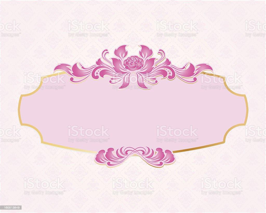 Frame Valentine vector art illustration