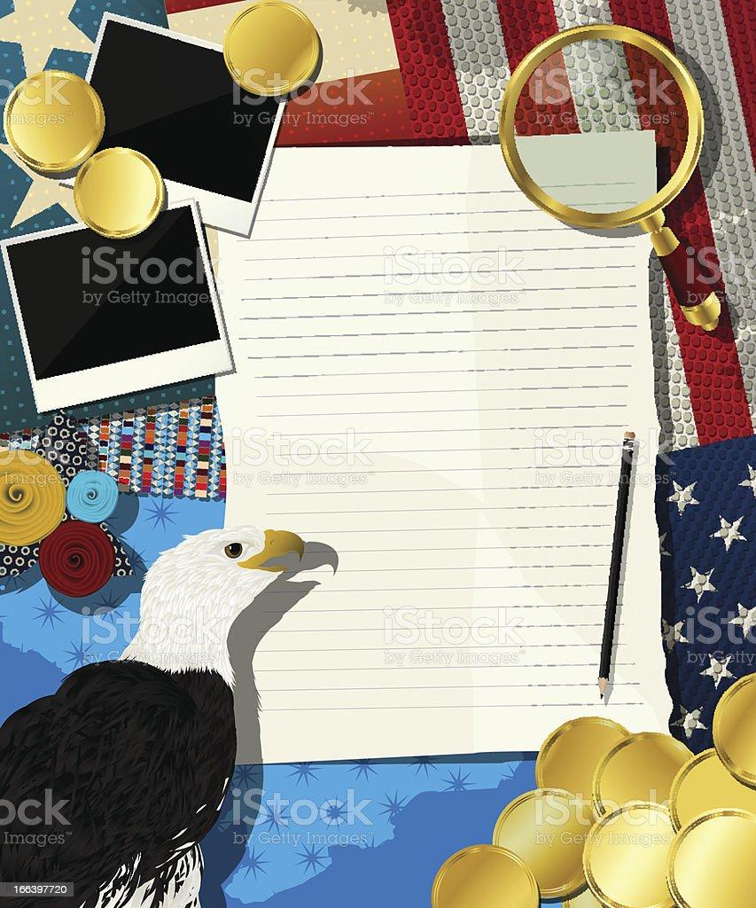USA frame royalty-free stock vector art