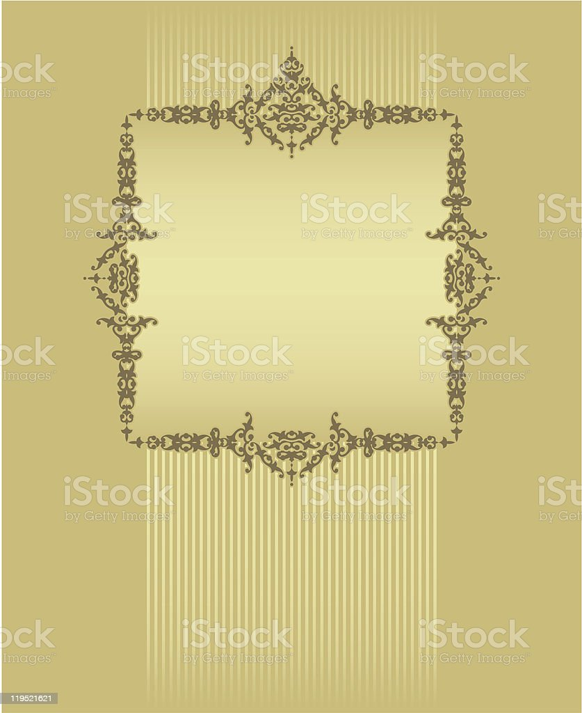 frame with a gold background royalty-free stock vector art