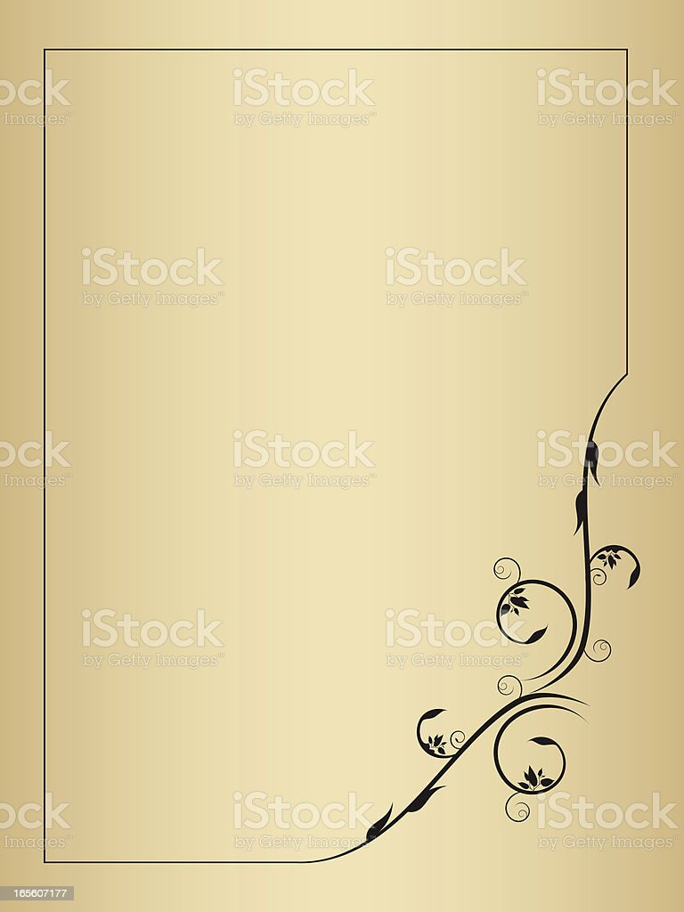Frame with artistic design of curling leaves royalty-free stock vector art