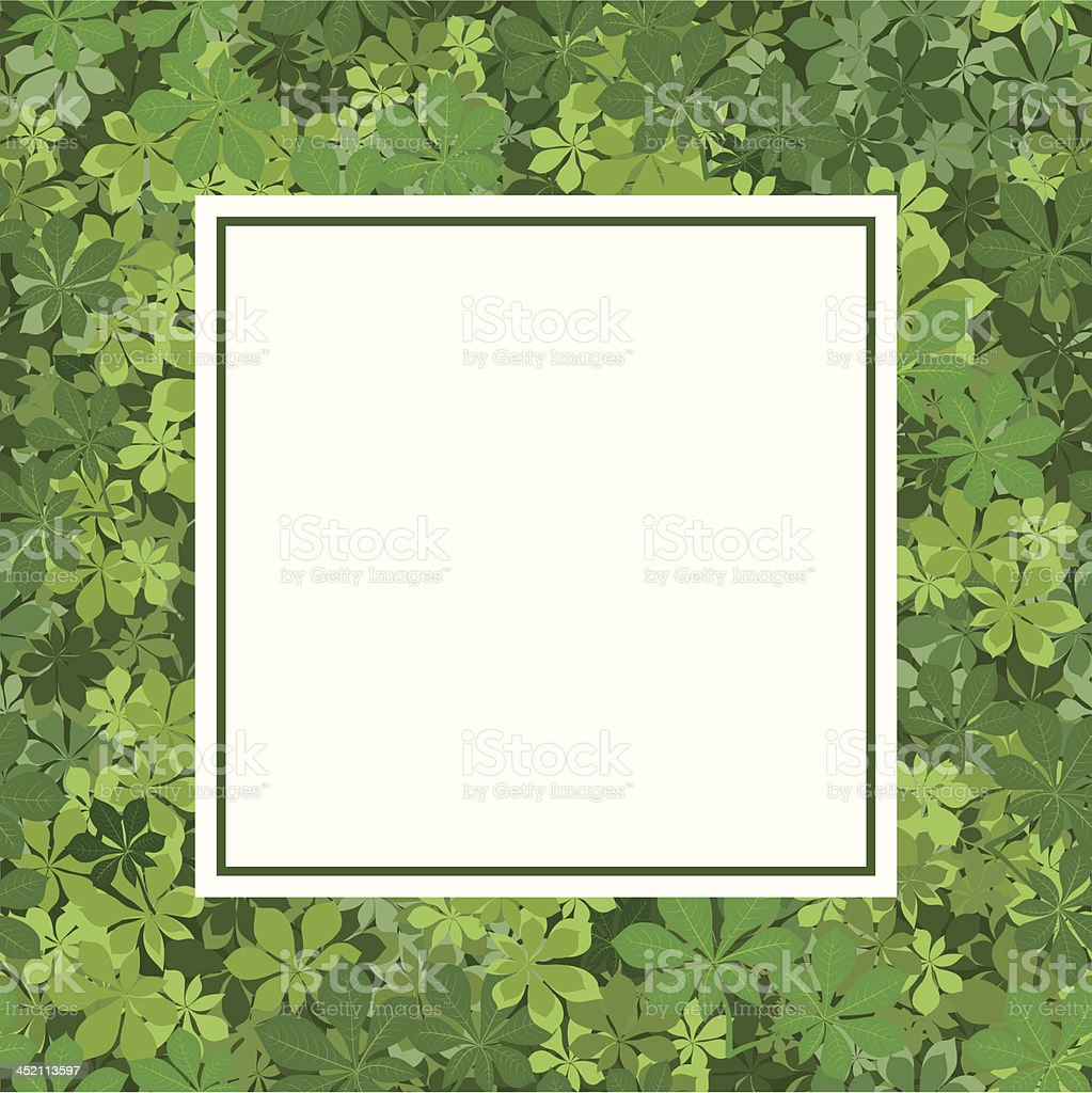 Frame with chestnut leaves royalty-free stock vector art