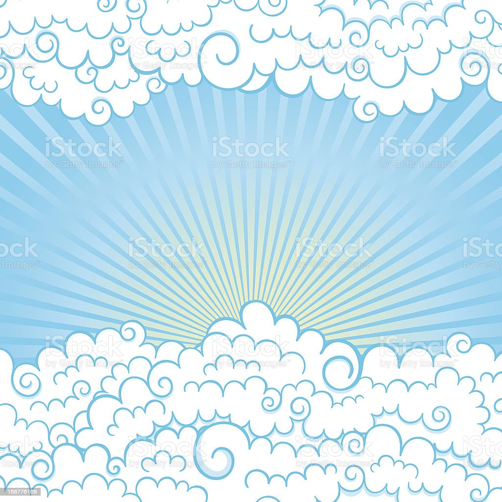frame with clouds royalty-free stock vector art
