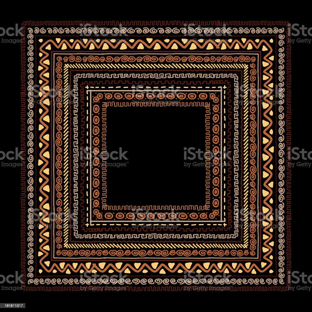 Frame with ethnic handmade ornament for your design royalty-free stock vector art