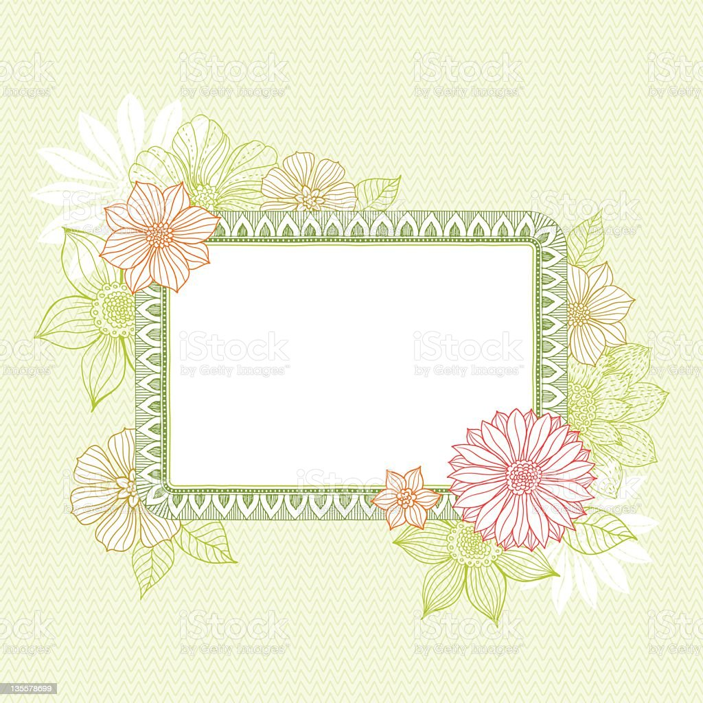 Frame with Flowers royalty-free stock vector art