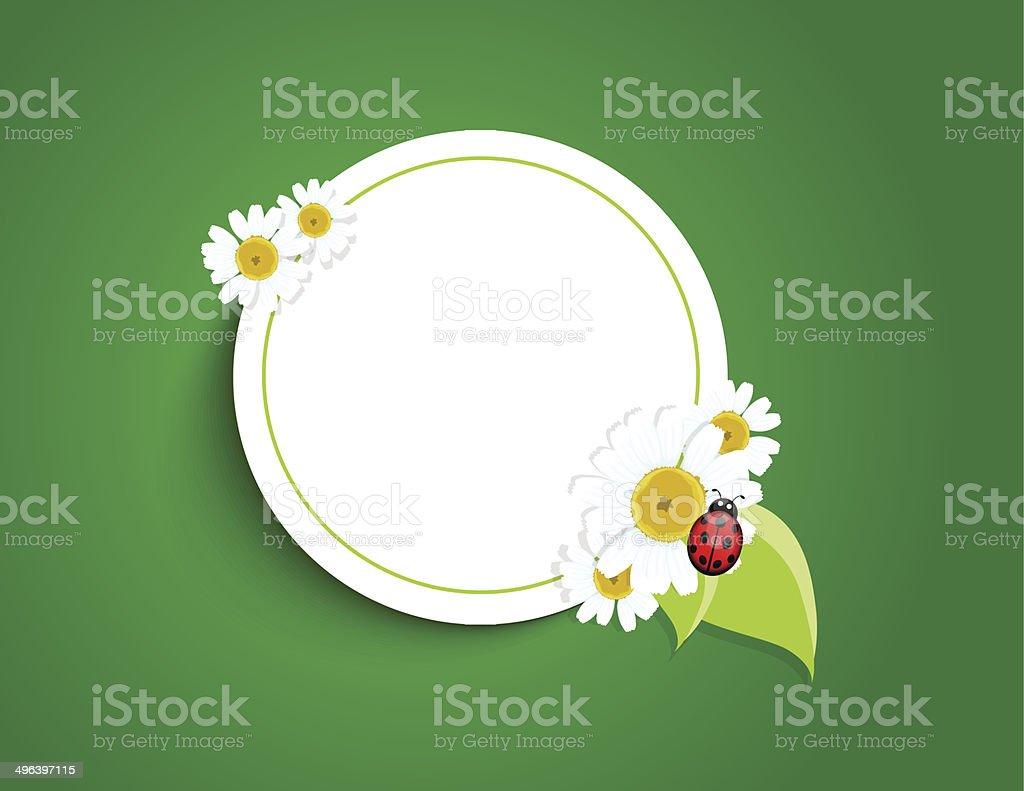 Cadre avec des fleurs stock vecteur libres de droits libre de droits