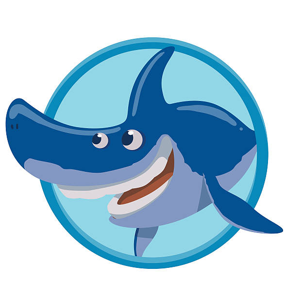 Sea Frame With Sharks And Fishes Clip Art, Vector Images ...